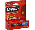 Orajel Instant Pain Relief for Severe Toothache Cooling Gel