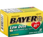 Bayer Low Dose 81 Mg Adult Low Strength Aspirin Tablets