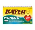 Bayer Women's Low Dose Aspirin Pain Reliever 81 Mg Coated Caplets