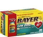 Bayer Aspirin Regimen Tablets Adult Low Strength