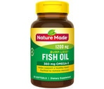 Nature Made Odorless Omega-3 Fish Oil 1200 Mg Softgels