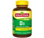 Nature Made D3 1000IU Liquid Softgels