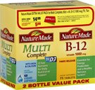 Nature Made Multi Complete and B-12 Tablets Value Pack