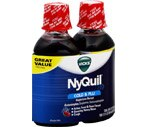 Vicks Nyquil Cold & Flu Liquid Cherry Twin Pack