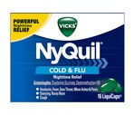 Vicks NyQuil Cold & Flu Nighttime Relief LiquiCaps, 16ct
