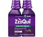 ZzzQuil Nighttime Sleep-Aid Liquid Warming Berry Flavor Twin Pack