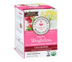 Traditional Medicinals Organic Herbal Tea Bags Weightless Cranberry, 6 Packs of 16CT