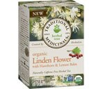 Traditional Medicinals Organic Herbal Tea Bags Linden Flower with Hawthorn & Lemon Balm, 16CT