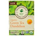 Traditional Medicinals Green Tea Bags Dandelion, Case (6PK of 16CT/Total 96CT)
