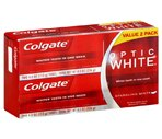 Colgate Optic White Toothpaste Twin Pack, Sparkling Mint