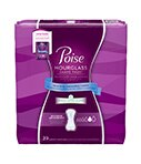 Poise Hourglass Shape Pads Maximum Absorbency