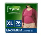Depend For Women Underwear XL