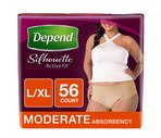 Depend Silhouette Active Fit* for Women Briefs Moderate Absorbency L/XL, 56CT