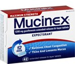 Mucinex Expectorant Tablets Maximum Strength Tablets 1200 mg