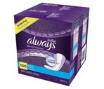 Always Xtra Protection Daily Liners Regular, 4 Packs of 50CT (Total 200CT)