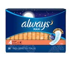Always Maxi Pads Overnight