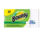 Bounty Trial Roll Paper Towels White, 12CT