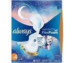 Always Infinity Overnight Pads with Flexi-Wings