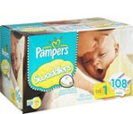 Pampers Swaddlers Sesame Beginnings Diapers Size 1 (8-14 lbs)