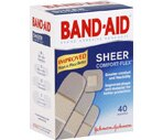 Band-Aid Bandages Comfort-Flex Sheer Assorted Sizes