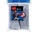 Hanes Socks Men's Active Crew Size 6-12 Grey/Black