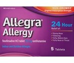 Allegra Allergy 24 Hour Non-Drowsy Tablets, 5ct
