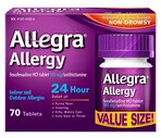 Allegra Allergy Fexofenadine HCI Tablets 180 mg