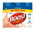 Boost Complete Nutritional Drink Plus, Creamy Strawberry