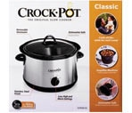 Crock Pot Classic Slow Cooker Assorted Colors, 5 Quart