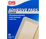 CVS Adhesive Pads Large 3 Inches X 4 Inches