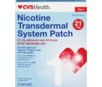 CVS Nicotine Transdermal System Patches 21 Mg Step 1