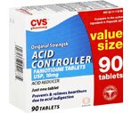 CVS Acid Controller Tablets Value Size