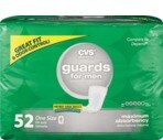CVS Guards For Men One Size Maximum Absorbency (4 PK of 52 EA/Total 208)