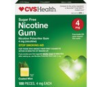 CVS Nicotine Polacrilex Coated Gum 4 Mg Cool Mint