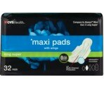 CVS Maxi Pads With Wings Long Super