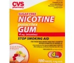 CVS Nicotine Gum 4 mg Fruit Coated