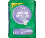 CVS Belted Shields One Size Moderate Absorbency Case