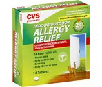 CVS Indoor/Outdoor Allergy Relief 24 Hour Tablets