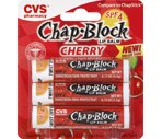 CVS Chap-Block Lip Balm Spf 4 Cherry Value Pack