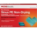 CVS Non-Drowsy Non-Drying Sinus PE Maximum Strength Coated Caplets