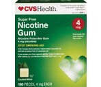 CVS Nicotine Polacrilex Gum 4 mg Cool Mint