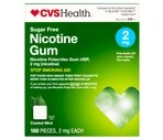 CVS Nicotine Polacrilex Gum 2 mg Cool Coated Mint