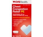CVS Chest Congestion Relief Pe Tablets