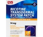 CVS Nicotine Transdermal System Step Two 14 mg  Patches