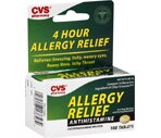 CVS 4 Hour Allergy Relief Tablets