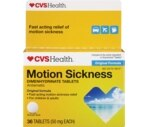 CVS Motion Sickness 50 mg Tablets