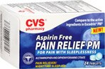 CVS Aspirin Free Pain Reliever/Nighttime Sleep-Aid Pain Relief PM Coated Tablets