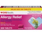 CVS Diphenhydramine Hydrochloride 25 mg Allergy Tablets Value Size