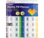 CVS 4-A-Day Weekly Pill Planner with Easy Press N' Open Buttons