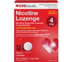 CVS Nicotine Polacrilex 4 mg Lozenges Cherry